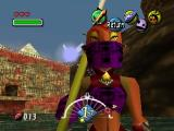 The Legend of Zelda: Majora's Mask Nintendo 64 Standing on a boat and staring at a cool-looking female pirate up close. I knew this would be better than the Bahamas