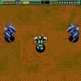 Final Zone Sharp X68000 Second boss fight where you're up against a pair of mechs