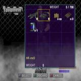 X Squad PlayStation 2 This shows Ash's inventory