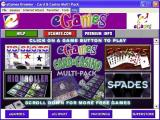Card & Casino Multi-Pack Windows The compilation's game browser.