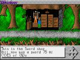 Elkinloor DOS A sword shop. I'll get one to use if my axe gets blunt.