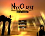 NyxQuest: Kindred Spirits Windows Title and main menu (demo version)