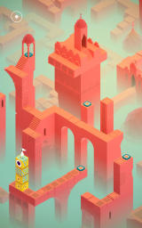 Monument Valley Android Standing on top of a column that can be moved around.