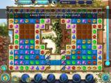 Magic Heroes: Save Our Park iPad Level 6 has overgrown tiles. These need to be matched to clear the overgrowth.