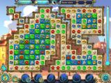 Magic Heroes: Save Our Park iPad Level 8 has green tiles over some blue tiles. These must be cleared to clear the blue tiles.