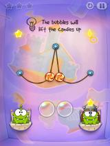 Cut the Rope: Time Travel iPad At level 1-04, you get bubbles.
