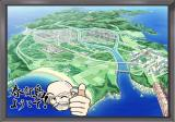 Clear: Atarashii Kaze no Fuku Oka de PlayStation 2 Map of the island