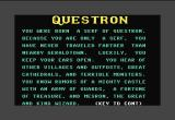 Questron Commodore 64 A bit of background story is built into the game.
