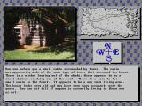 Borderworld DOS A few old log cabins are hiding at the edge of the wood.