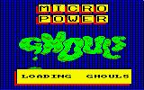 Ghouls Amstrad CPC Loading Screen
