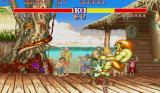 Street Fighter II: Champion Edition Sharp X68000 Blanka bites Guile