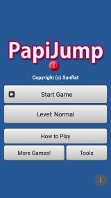 PapiJump Android Title Screen