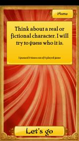 Akinator Android Think of a character