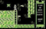 Monstrum Commodore 64 Two bats guarding the ladder