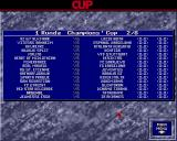 The Manager Amiga Cup schedule