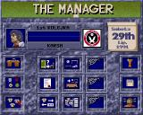 The Manager Amiga Team menu
