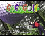 Go Go Golf PlayStation 2 The game's title screen
