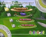 Go Go Golf PlayStation 2 The start of a match<br>This is a Stroke Play match but the same screen serves all modes<br>Just one controller connected so the game provides some competition
