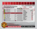 Club Football: 2003/04 Season PlayStation 2 In addition to match statistics there are cumulative team and player statistics too<br><br>Manchester United game
