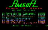 Frank N Stein Amstrad CPC Title Screen