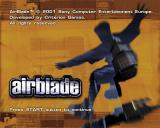 AirBlade PlayStation 2 The game's title screen