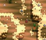 Haō Taikei Ryū Knight: Lord of Paladin SNES A brown area with some strange-looking enemies