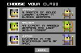 Legends of Yore Browser Choose your class
