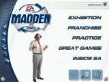Madden NFL 2001 Windows Main menu