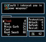 Inindo: Way of the Ninja SNES Weapons store