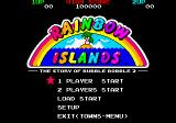 Rainbow Islands Extra FM Towns Main menu