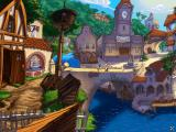 The Curse of Monkey Island Windows Puerto Pollo, the main town of Plunder Island