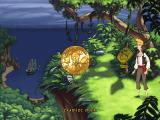 The Curse of Monkey Island Windows This golden coin is the new interface, each picture representing a different action