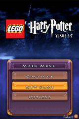 LEGO Harry Potter: Years 5-7 Nintendo DS Title/menu screen.