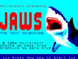 JAWS: The Text Adventure ZX Spectrum Loading screen