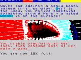 JAWS: The Text Adventure ZX Spectrum First meal