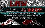 Law of the West PC-88 Title screen