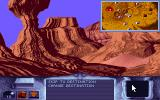 Dune DOS Flying through the canyon, the CD-ROM version includes 3D flying sequence