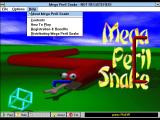 Mega Peril Snake Windows 3.x The game's 'real' title screen has snakes running around in the background<br>There are lots of configuration options in the menu bar