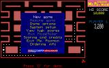 CHAMP Ms. Pacman DOS The game's main menu comes after CHAMProgramming's logo and an acknowledgement that this game is based on the game by Bally/Midway