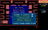 CHAMP Ms. Pacman DOS The second screen of the 'start a new game' dialogue<br>This shows the game can be controlled by mouse, keyboard or joystick