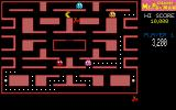 CHAMP Ms. Pacman DOS A single player game in progress