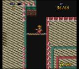 Terranigma SNES Fourth tower - walking on a tightrope...