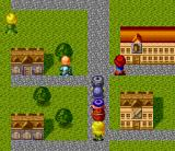Kōryu Densetsu Villgust: Kieta Shōjo SNES In a town. The characters are bigger than the houses :)