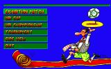 Action Soccer DOS Main menu