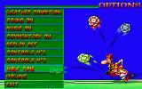 Action Soccer DOS Options menu