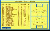 World Cup Challenge Amstrad CPC Pick your team and their positions
