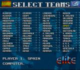 Striker SNES Team selection
