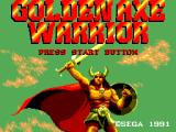 Golden Axe Warrior SEGA Master System Title