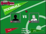 GameRoom Excitement Windows Foosball: This screen allows the player to select their AI opponent and the type of game