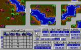 Operation Com●Bat: Computer Battle Game DOS These are the game configuration parameters<br>In the game screen the Archipelagos map has been selected.